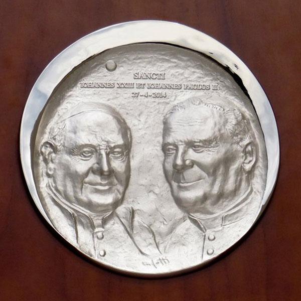 Papa Giovanni XXIII e Papa Giovanni Paolo II - Bassorilievo