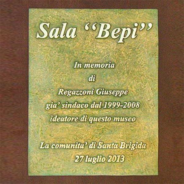 Comune di Santa Brigida - Targa